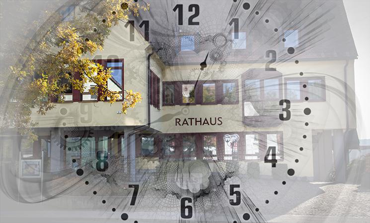 Aktuelles zu Behördengängen und Öffnungszeiten des Rathauses