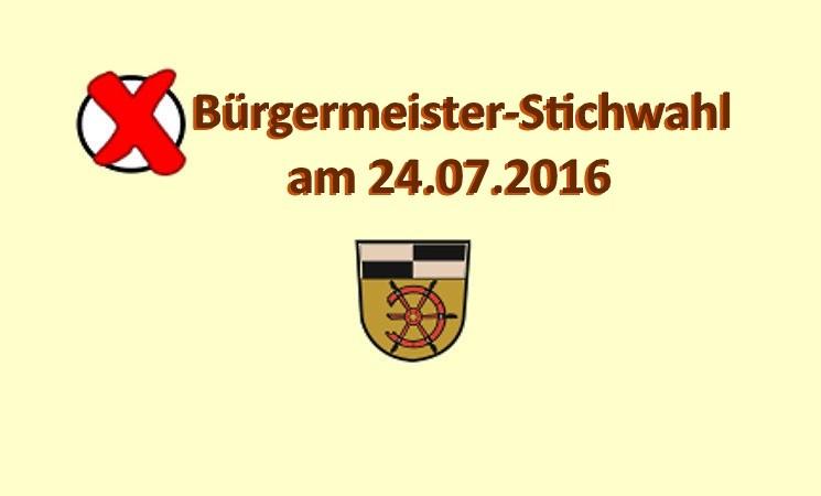 Ergebnis Bürgermeister-Stichwahl 24.07.2016