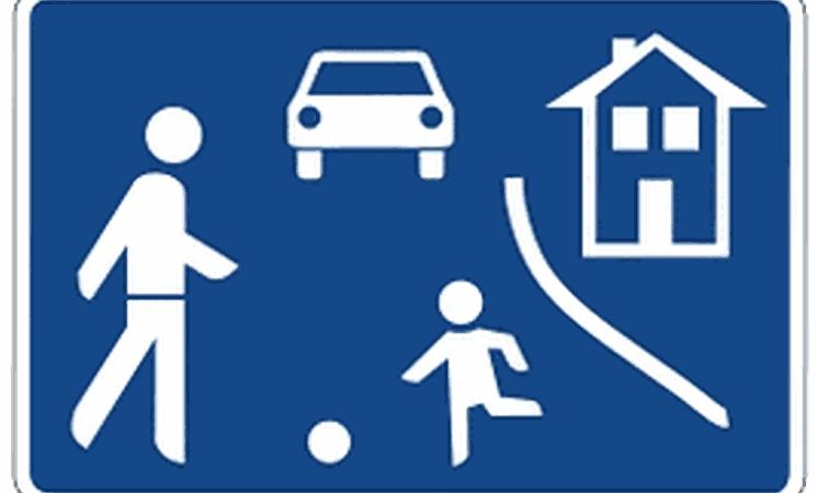 Verkehrsberuhigter Bereich – was heißt das ?