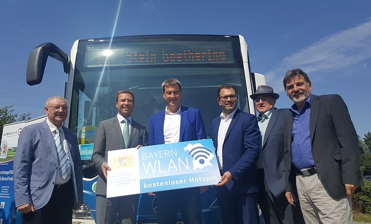 Busse jetzt mit Bayern-WLAN