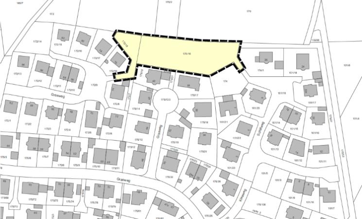 """Bekanntmachung: Vollzug des Baugesetzbuches (BauGB); Änderung des Bebauungsplanes Nr. 14 """"Erweiterung Grasweg"""" im Bereich der Flurnummern 172/19 und 175/16, Gemarkung Seukendorf, nördlich des Graswegs"""