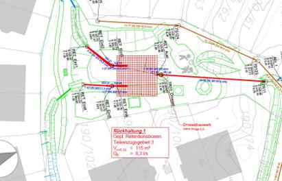 Wasserrecht und Spielplatz Heide I – geplante Maßnahmen