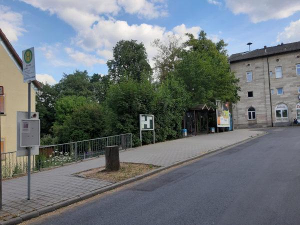 Abbau von Barrieren - Bushaltestelle Bahnhofstraße