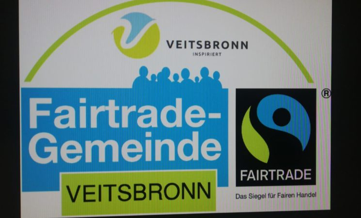 """Veitsbronn als """"FairTrade-Gemeinde"""" bestätigt"""