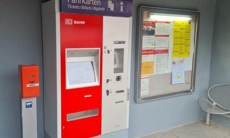 Bahnhalt Raindorf: Fahrkartenautomat zukünftig im Zug