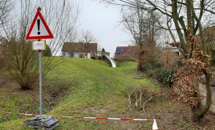 Neues zu Regenrückhaltung und Spielplatz Heide