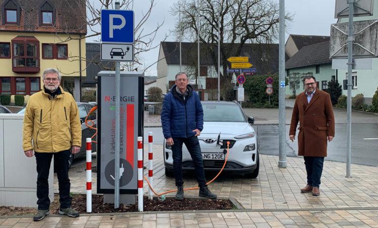 Neue Ladestation für Elektroautos in Veitsbronn