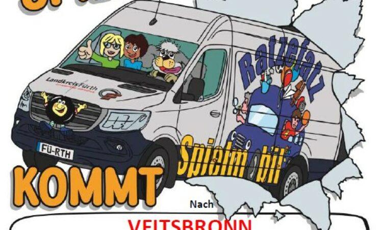 Das Spielmobil Ratzefatz kommt nach Veitsbronn!